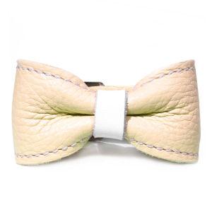 Anna Lou of London Leather Bow Bracelet - Pastel Yellow