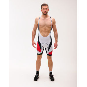 Look Ultra Bib Shorts - White/Red