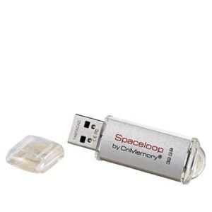 CnMemory 32GB Spaceloop Metal USB 2.0 Flash Drive