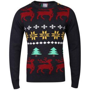 Christmas Branding Jolly Knitted Jumper - Dark Navy