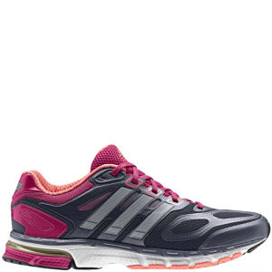 Adidas Women's Supernova Sequence 6 Running Shoe - Urban Sky/Metalic Silver/Blast Pink