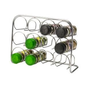 Hahn Pisa Spice Rack 12 Jar - Chrome