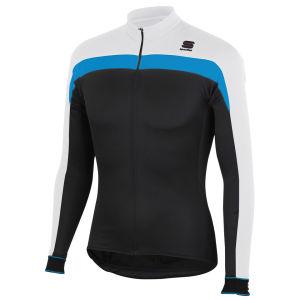 Sportful Pista Long Sleeve Jersey Full Zip - Black/White/Blue