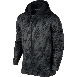 Nike Men's KO Print Full Zip Hoody - Black