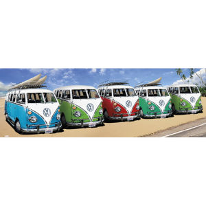 VW Californian Camper Campers Beach - Door Poster - 53 x 158cm