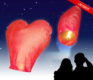 Love Heart Flying Lanterns
