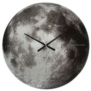 Karlsson Moon Silent Movement Wall Clock - Copper Mirror Glass