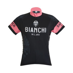 Bianchi Women's Eddi1 Short Sleeve Jersey - Black/Pink