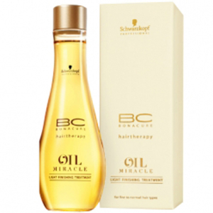 Schwarzkopf BC Hairtherapy Oil Miracle Light Finishing Treatment for Fine /Normal Hair (100 ml)