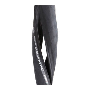 Vittoria Diamante Pro III Radiale Clincher Road Tyre Black 700c x 24mm + FREE Inner Tube