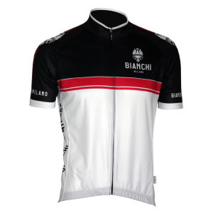 Bianchi Monreale Short Sleeve Jersey - White/Red
