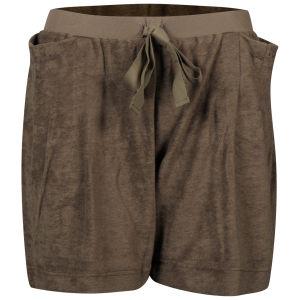 Chloe Women's Velour Shorts - Brown