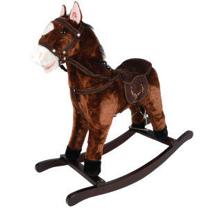 Deluxe Wooden Rocking Horse - Brown