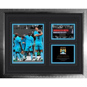 Manchester City 6-1 Vs Man Utd - High End Framed Photo - 16