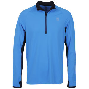 K-Swiss Men's Half-Zip Jacket - Brilliant Blue/Black
