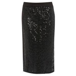Damned Delux Women's Sequin Pencil Skirt - Black