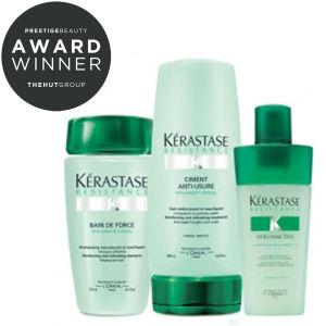 Kérastase Strengthening Hair Pack (3 Products) Bundle