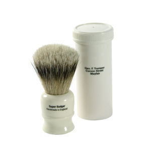 Geo. F. Trumper 2273 Super Badger Shaving Brush med fodral