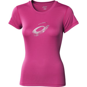 Asics Women's Graphic Running Top - Magenta