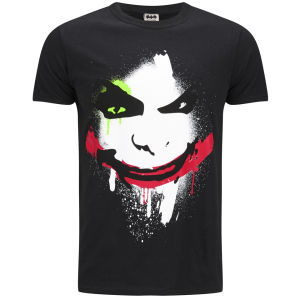DC Comics Men's Joker Big Face T-Shirt - Black : Image 1