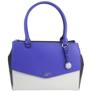 Fiorelli Harper Triple Compartment Shoulder Bag - Cobalt/Ice/Black Mix
