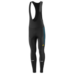 adidas Response Windbreaker Bibtights - Black/Teal