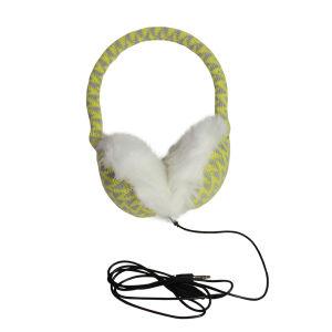 Earmuff Headphones - Geometric Lemon/Grey