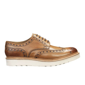 Grenson Men's Archie V Leather Brogues - Tan Calf