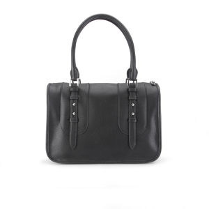 French Connection Women's Clarissa Vintage PU Two Strap Bowling Bag - Black