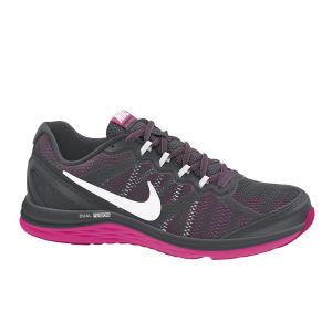 Nike Women's Dual Fusion Run 3 Running Shoes - Black/Pink
