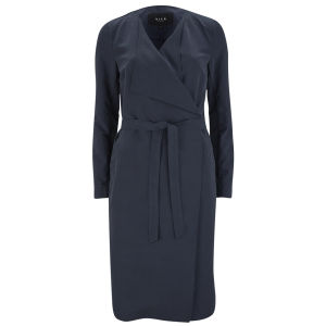 VILA Women's Kalu Long Coat - Navy