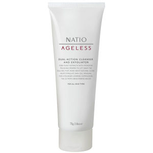 Limpiador facial exfoliante doble acción Natio Ageless (75g)