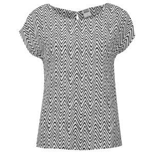 Vero Moda Women's Zigga Top - Black/ White