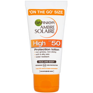 Garnier Ambre Solaire Ultra-Hydrating Sun Cream SPF 50+ 50ml Travel Size