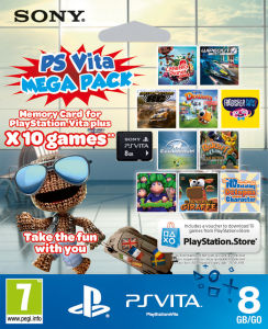 PS Vita Mega Pack (Includes 10 Games and 8GB Memory Card)