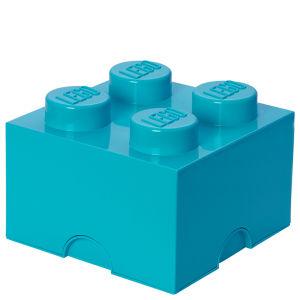 LEGO® azuurblauwe opslagsteen met 4 noppen