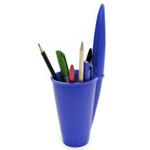 Pen Lid Shaped Pen Holder - Blue