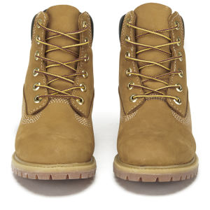 Timberland Women's 6 Inch Premium Leather Boots - Wheat: Image 4
