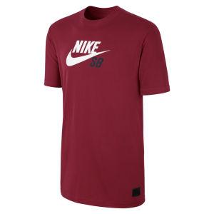 Nike SB Herren Icon Logo T-Shirt - Team rot/weiß