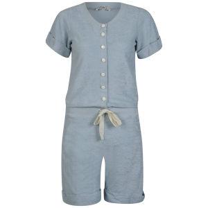 Chloe Women's Buttoned Dress - Light Blue