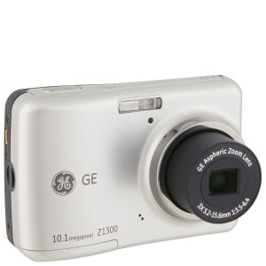 GE Z1300 Digital Camera - Silver (10.1MP, 3x Optical Zoom, 2.4 Inch LCD)