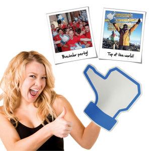 Social Like Foam Hand