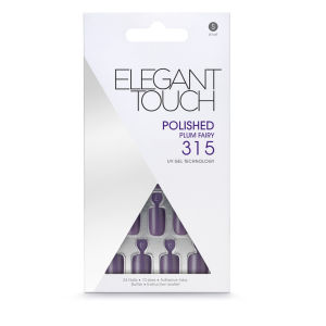 Elegant Touch Polished Nails - Plum Fairy