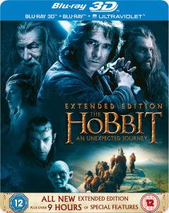The Hobbit: An Unexpected Journey 3D - Verlengde Editie - Beperkte Editie Steelbook (Bevat 2D Versie en UltraViolet Copy)