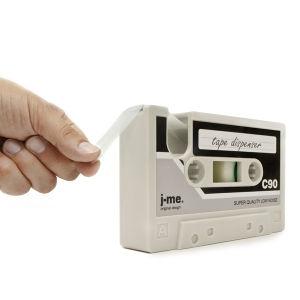 Cassette Shaped Tape Dispenser - Cool Grey