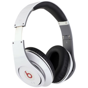 Beats by Dr. Dre: Studio Noise Cancelling HD Headphones with Microphone - White