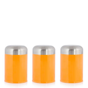 Cook In Colour Set of 3 Dome Canisters - Orange