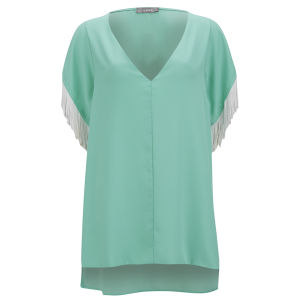 LOVE Women's Fringe Top - Mint