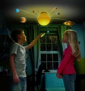 Beleuchtetes Sonnensystem mit Fernbedienung