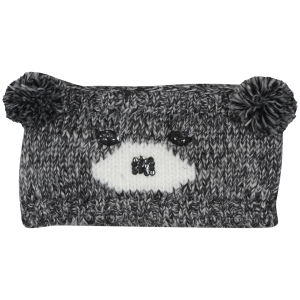 Women's Bear Knit Headband - Grey/Ivory